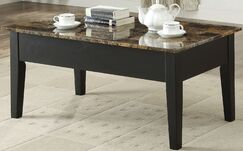 Howlett Coffee Table with Lift Top Table Base Color: Black, Table Top Color: Light Brown