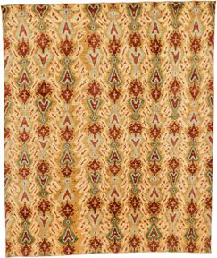 One-of-a-Kind Higginsville Ikat Hand-Knotted 8'1