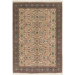 One-of-a-Kind Earby Hand-Knotted Wool Cream/Brown Area Rug