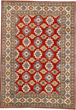 One-of-a-Kind Alayna Hand-Knotted Wool Red/Green/Brown Area Rug