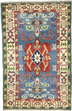 One-of-a-Kind Alayna Hand-Knotted Wool Green/Beige/Blue Area Rug