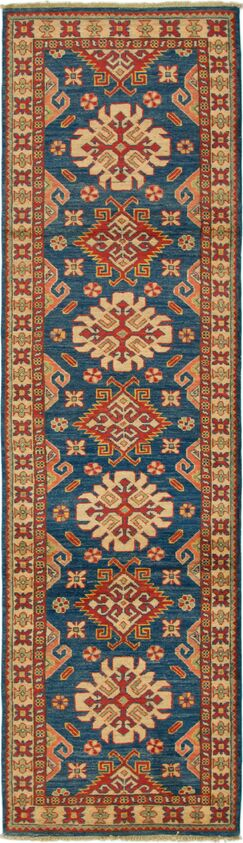 One-of-a-Kind Alayna Hand-Knotted Wool Beige/Navy Area Rug