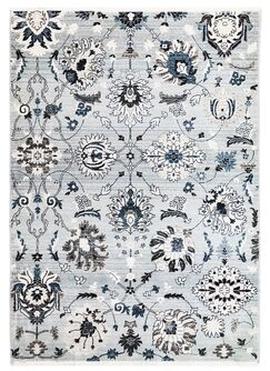Osblek Floral Blue Area Rug Size: Rectangle 8'10