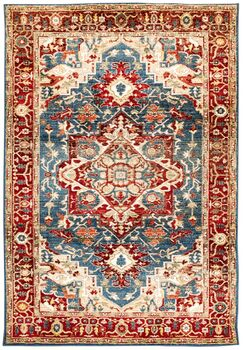 Rithland Heriz Blue/Red Area Rug Size: Rectangle 4'11