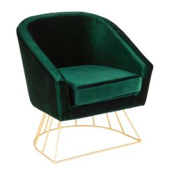 Lystra Armchair Upholstery: Green