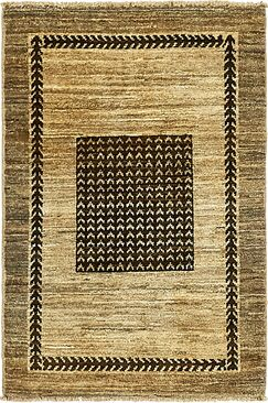 One-of-a-Kind Nash Hand-Knotted  2' x 3' Wool Light Brown/Gray Area Rug
