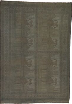 One-of-a-Kind Earley Hand-Knotted 6'7