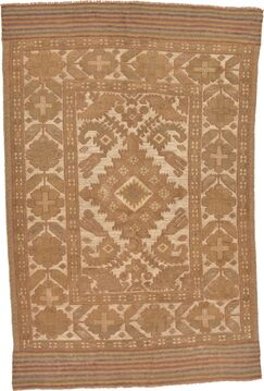 One-of-a-Kind Earley Hand-Knotted  4' x 6' Wool Beige Area Rug