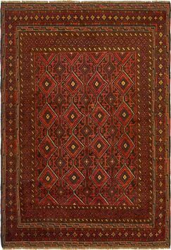 One-of-a-Kind Earley Hand-Knotted 4'9