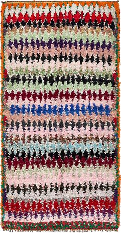 One-of-a-Kind Sedbergh Hand-Knotted Cotton Pink/Red/Green Area Rug