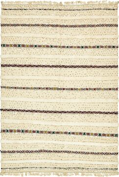 One-of-a-Kind Silloth Hand-Knotted Wool Beige Area Rug