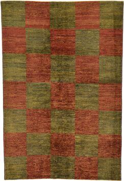 One-of-a-Kind Nash Hand-Knotted Wool Green/Red Area Rug