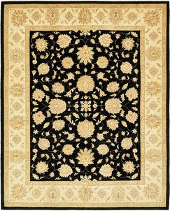 One-of-a-Kind Huntingdon Hand-Knotted Wool Beige/Black Area Rug