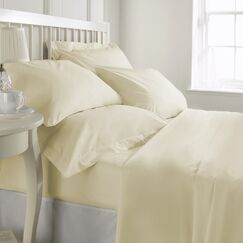 Egremt 600 Thread Count 100% Cotton Sheet Set Color: Ivory, Size: Queen
