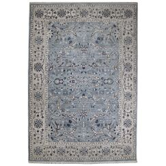 Osblek Oushak Blue/Beige Area Rug Size: Rectangle 3'3