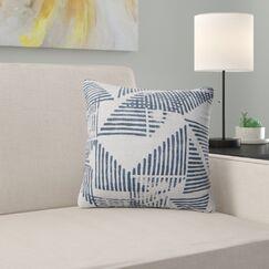 Hadley Triangle Block Throw Pillow Size: 16