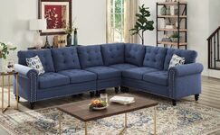 Schell Sectional Upholstery Color: Blue