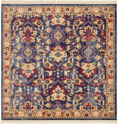 Rumsey Blue Area Rug Rug Size: Square 8'