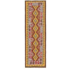 One-of-a-Kind Lorain Hand-Knotted Wool 2' x 6' Brown/Pink Area Rug