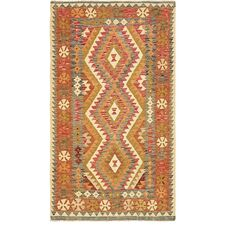 One-of-a-Kind Doorfield Hand-Knotted Wool 3'6