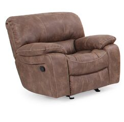 Locher Manual Glider Recliner Upholstery Color: Brown