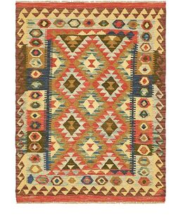 One-of-a-Kind Doorfield Hand-Knotted Wool 3'7