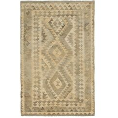 One-of-a-Kind Lorain Hand-Knotted Wool 4' x 6' Cream Area Rug