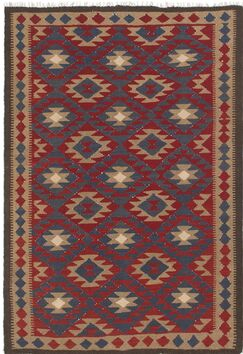 One-of-a-Kind Lorain Hand-Knotted Wool 5'3