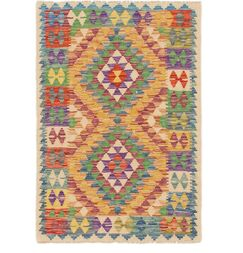 One-of-a-Kind Alpheus Kilim Maymana Hand-Knotted Wool 2'9