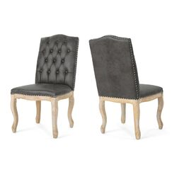 Arend Traditional Upholstered Dining Chair Upholstery Color: Slate