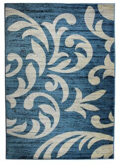 Cummington Hand-Tufted Sky Blue/White Area Rug Rug Size: Rectangle 2' x 3'