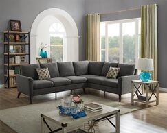 Bartholomew Modular Sectional Upholstery Color: Steel Gray