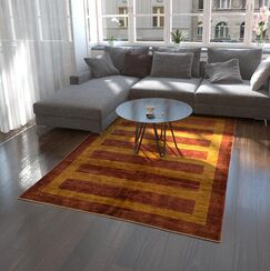 One-of-a-Kind Nash Hand-Knotted Wool Brown/Orange Area Rug