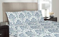 Whiteman Microfiber Sheet Set Color: Blue, Size: Twin