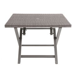 Spector 4 Person Folding Resin Wicker Dining Table