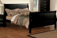 Swihart Panel Bed Size: Queen, Color: Black
