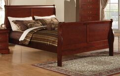 Swihart Panel Bed Size: King, Color: Cherry