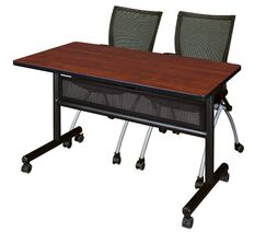 Velasquez Flip Top Mobile Training Table with Modesty Panel Tabletop Finish: Cherry, Size: 29