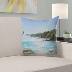 Sea Grove Morning Throw Pillow Size: 16