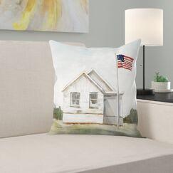 American Flag Throw Pillow Size: 20
