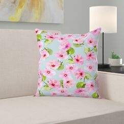 Ibiscus Dance Throw Pillow Size: 18