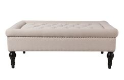 Malani Tufted Cocktail Ottoman Upholstery: Sky Neutral