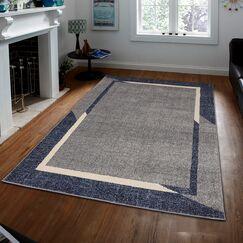 Harrogate Fine Sleek Blue Area Rug Rug Size: Rectangle 5' x 7'