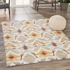 Ellijay Abstract Ivory Area Rug Rug Size: Rectangle 7'8