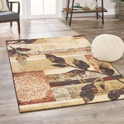 Mckeown Abstract Black Area Rug Rug Size: Rectangle 7'10