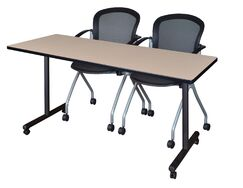 Marin Training Table Tabletop Finish: Beige, Size: 29