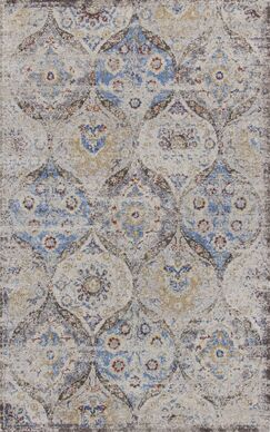 Surrency Blue/Light Gray Area Rug Rug Size: Rectangle 3'3