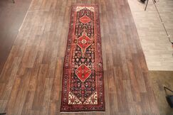 One-of-a-Kind Classical Traditional Hamedan Persian Hand-Knotted 3'5
