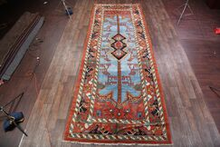 One-of-a-Kind Heriz Traditional Persian Hand-Knotted 6'11