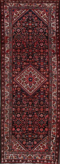 One-of-a-Kind Hamedan Persian Hand-Knotted 3'6